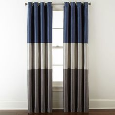 Buy Studio Trio Grommet Top Curtain Panel today at jcpenneycom You deserve great deals and weve got them at jcp! Dining Room Curtains, Kids Curtains, Cool Curtains, Panel Curtains, Blue Curtains, Have A Good Sleep, Blackout Curtains, Window Coverings, Window Treatments