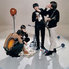 """#TheBeatles filming the promotional video of """"I Feel Fine"""", 1964"""