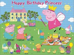 4x3 Princess/Fairy Peppa Pig party background by KabooStudio, €18.00