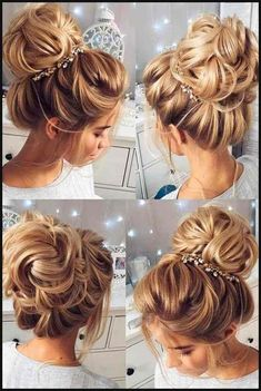 Stunning Wedding Hairstyles for the 2018 Season – Latest Hairstyles bob hairstyles Wedding Hairstyles For Long Hair, Wedding Hair And Makeup, Pretty Hairstyles, Easy Hairstyles, Hair Wedding, Bridesmaids Hairstyles, Bridal Hairstyles, Hairstyle Ideas, Latest Hairstyles