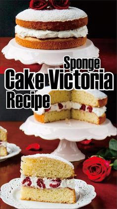 Sponge Cake Victoria Recipe This is a British-style poriferan cover bedded with raspberry jam and whipped remove in between. This variant is. Easy Sponge Cake Recipe, Sponge Cake Recipes, Easy Cake Recipes, Easy Victoria Sponge, Red Nose Day Cakes, Welsh Cakes Recipe, New Birthday Cake, Grandma Birthday, Victorian Cakes