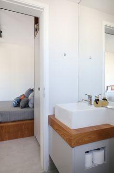 Apartamento de 29 m² tem até sala de TV
