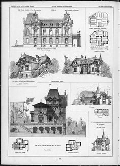 Villas Cottages And Country Houses Drawings Of Architectural Monuments Buildings Objects