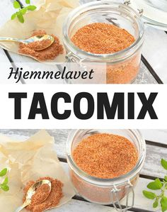Det er utroligt nemt at lave sin helt egen taco krydderiblanding, og den slår købevarianterne med flere længder. Tex Mex, Grilling, Tacos, Food And Drink, Vegetarian, Breakfast, Vegan Ideas, Dip, Food Ideas