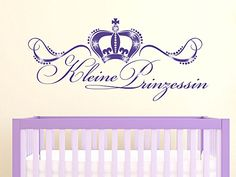 Awesome  Wandtattoo Aufkleber mit Swarovski f r M dchenzimmer Spruch Kleine Prinzessin Gr e udxcm