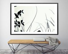 Botanical print Wall art prints black and white Modern poster Large canvas art Bedroom art by Duealberi - Abstract Paintings - Large wall Art - Prints for home and office decor Minimalist Painting, Minimalist Poster, Large Painting, Painting Prints, Black And White Prints, White Art, Large Canvas Prints, Bedroom Art, Bedroom Black