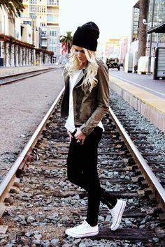 Способов носить зимнюю шапку со стилем (26)