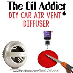THE OIL ADDICT: DIY Car Air Vent Diffuser.  Easy, affordable and perfect for on-the-go essential oil diffusing! YL#1822966