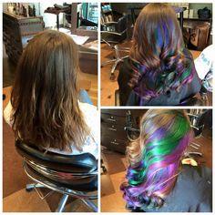 Amazing peek-a-boo colors by Megan Federwisch @JunctionSalon