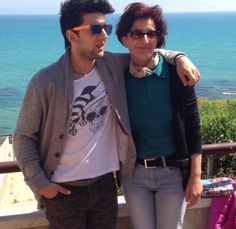 Piero and his beautiful mother, Eleonora! Mother's Day 2014  ⭐️IL VOLO⭐️