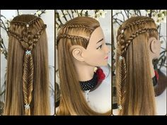 Peinado facil y rapido para cabello largo o corto con trenza Princess Hairstyles, Little Princess, Dreadlocks, Hair Styles, Beauty, Youtube, Ideas, Long Hair, Dutch Braids