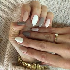 Gel Nail Art Designs, Almond Nails Designs, Winter Nail Designs, Colorful Nail Designs, Simple Nail Designs, Gel Acrylic Nails, Gel Nails, Fingernails Painted, Polish Nails