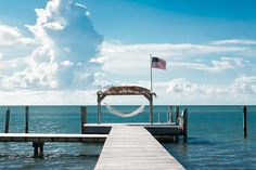 Take in the blue waters of #Islamorada #Florida out on a dock at the Moorings Village & Spa.