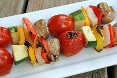 Daniel Fast Food List and Guidelines based upon the prophet Daniel's fasting experiences as recorded in the Bible. Grilled Veggie Kabobs, Vegetable Kebabs, Grilled Vegetables, Veggies, Fresh Vegetables, Daniel Fast Food List, Daniel Fast Recipes, Vegetarian Barbecue, Barbecue Recipes