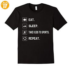 Eat Sleep Take Kids to sports Repeat shirt Herren, Größe 3XL Schwarz (*Partner-Link)