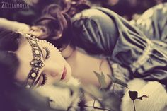 Sleeping Beauty  Photography: Tiffany Zettlemoyer Hair: Alice Olson Make-up: Theresa Little  Wardrobe: Echoes of Time  Pin It