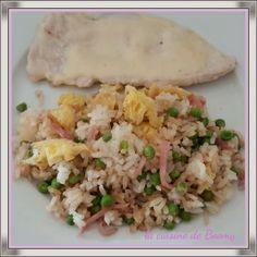 Le riz cantonnais j'adore ça alors quand j'ai vu cette recette sur le blog de Rachel j'ai su de suite que j'allais la tester. Et en plus une recette Cook'in donc hyper pratique et facile à réaliser. Pour 4 pers / 7 pp par pers 200 gr de riz thaï cru 100...