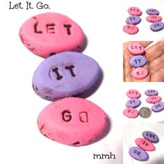 Let. It. Go.  Handmade Polymer Clay Beads by rosebud101 on Etsy