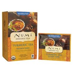 Shop the best Numi Organic Tea Golden Tonic Turmeric Tea 12 Bag(s) products at Swanson Health Products. Trusted since we offer trusted quality and great value on Numi Organic Tea Golden Tonic Turmeric Tea 12 Bag(s) products. Turmeric Tea, Organic Turmeric, Lego Duplo, Numi Organic Tea, Bio Tee, Caffeine Free Tea, Golden Tea, Cocktails, Cocktail
