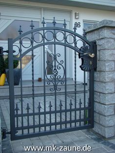 A fantastic website employed by crafters is Etsy. They already have thousands of crafts on the market or you can find inspiration there. You might use Etsy so as to sell your items on Etsy. Fence Gate Design, Steel Gate Design, House Gate Design, House Front Design, Entrance Design, Door Design, Wrought Iron Gate Designs, Wrought Iron Garden Gates, Wrought Iron Doors