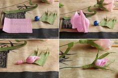 Роза из гофрированной бумаги. Мастер-класс... фото #10