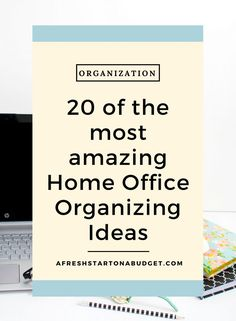 20 of the most amazing Home Office Organizing Ideas – A Fresh Start on a Budget – Home Office Design Diy Organizing Paperwork, Home Office Organization, Storage Organization, Organizing Ideas For Office, Storage Ideas, Organising Ideas, Organized Office, Household Organization, Business Organization