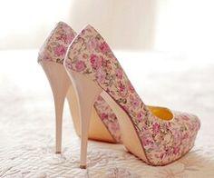 Pink, beige, cream floral print