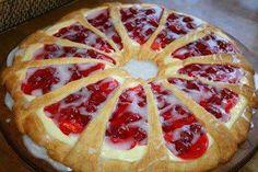 2 (8 oz. each) pkgs. refrigerated crescent rolls   8 oz. cream cheese   1/4 cup powdered sugar   1 egg   1/2 tsp. vanilla or ...
