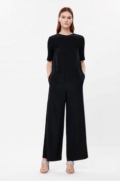 Low-back silk jumpsuit  - Black - Jumpsuits - COS US