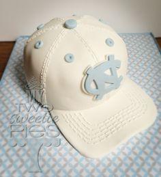 UNC Baseball cap grooms cake