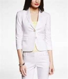 pure white....loved it.  It's shorter...I'm shorter.  Finally found my white suit....blazer, pants, and skirt.   CB