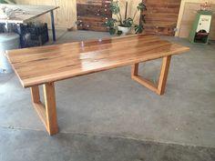 Handmade Custom Recycled Tasmanian Oak Dining Table | eBay