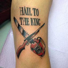 Evil Dead tattoo by Jessamyn Felker, Art With Heart, Aurora, Co