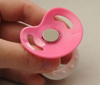 Bitsy Bundles | Reborn Doll Blog  --  How to make a magnetic pacifier for reborn dolls.