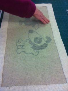 reverse of cartoon mat by Sonia