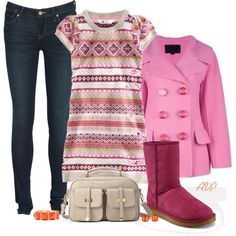 HM Sweater Dress II, created by amy-phelps on Polyvore