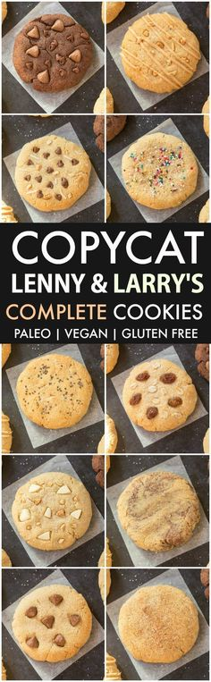 Copycat Lenny & Larry's Complete Cookies Flavors)- Ready in 10 minutes, these copycat protein cookies need just five ingredients! Gluten Free Desserts, Gluten Free Recipes, Low Carb Recipes, Vegan Recipes, Paleo Vegan, Protein Recipes, Vegetarian, Vegan Gluten Free Cookies, Vegan Sugar