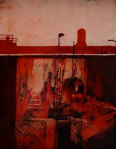 "Saatchi Art Artist Marta Zamarska; Painting, ""A Railway Station at Dawn (sold))"" #art"