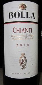 2010 Bolla Chianti - wonderful aromas of red cherries in this medium bodied Italian wine. Great with rich pastas, steaks and aged cheeses. $8