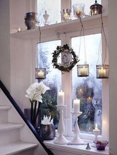 45 Καταπληκτικές Χριστουγεννιάτικες Ιδέες Διακόσμησης παραθύρων | Σπίτι και κήπος διακόσμηση