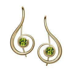 14kt Gold Lyrical Gemstone Earrings
