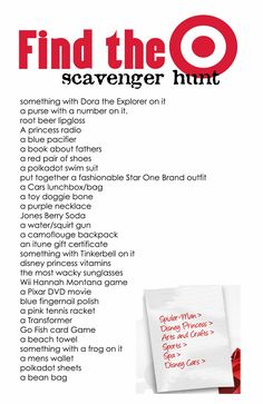 A Bushel and a Peck of FUN: Young Women's Activity - Target Scavenger Hunt