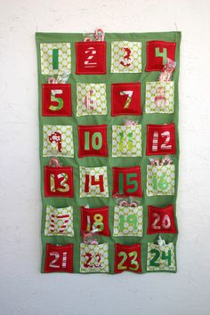 Super easy advent to sew