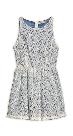Crochet Dress Natural Blue