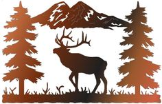 Metal Elk Silhouettes   ELK ME02