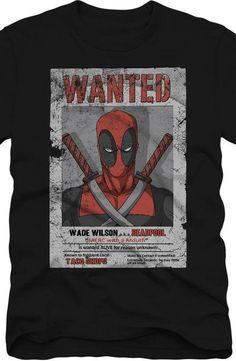 Wanted Deadpool T-Shirt - Marvel Comics T-Shirt