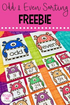Help your kindergarten, grade one, or grade 2 students learn their odd and even numbers with this FREE sorting activity! Click through to get yours! #math #numbersense #kindergarten #backtoschool