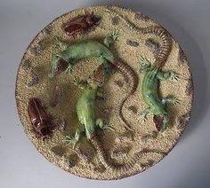 portuguese Palissy ware plate - Google Search