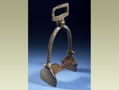 This is a stirrup, used by a Viking horse-rider. Vikings used horses for raiding, trading, hunting and farming.