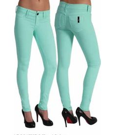 Mint Mid Rise Skinny Jeans~ For sure have these jeans.. If only I could walk in heels!